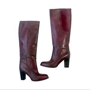 NEW ALDO Monaco Knee-High Burgundy Leather Boots